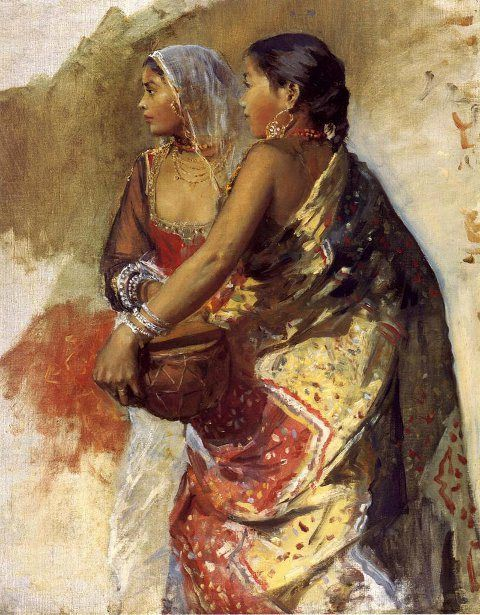 Two Nautch Girls, Sketch - Edwin Lord Weeks (1849 – 1903)