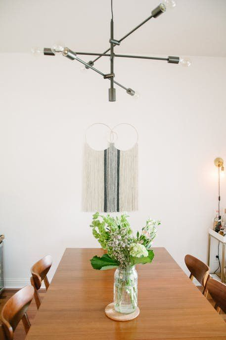 Our Mobile Chandelier And Mid Century Expandable Dining Table Add Modernism To