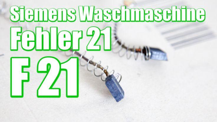Siemens Waschmaschine Fehler 21,   F21, Kohlebürste