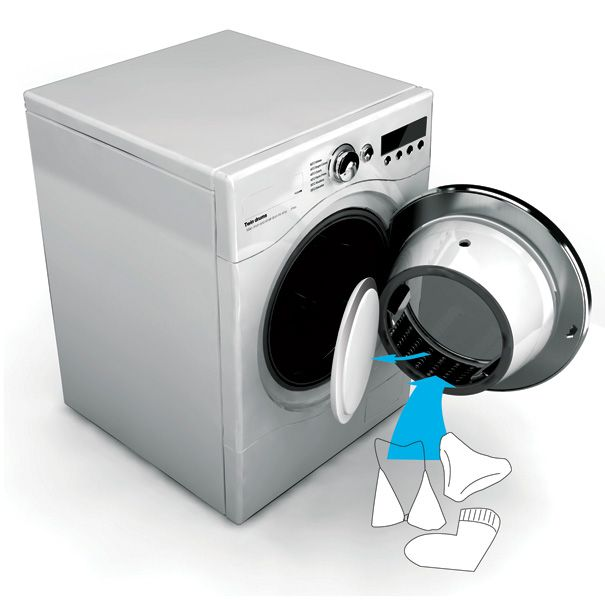 TWIN Drums Washing Machine by Yoon Hyung Woo - save time and money by running your delicates and others in the washing machine together, but in separate drums!