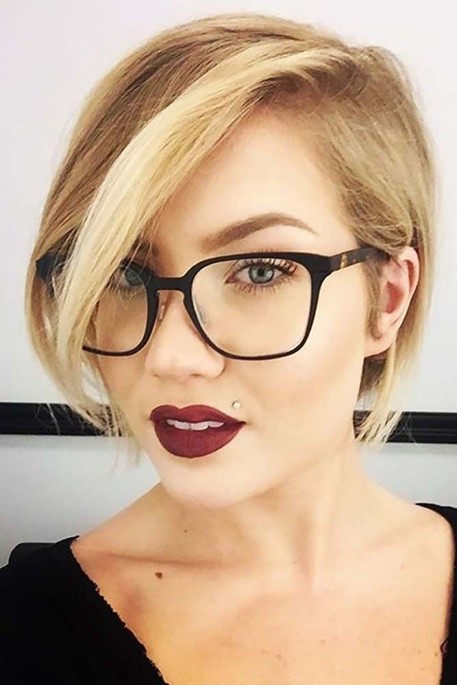 How To Choose Glasses For Short Hair And Round Face Shape, #Choose #face #Glasses #glassesfo…