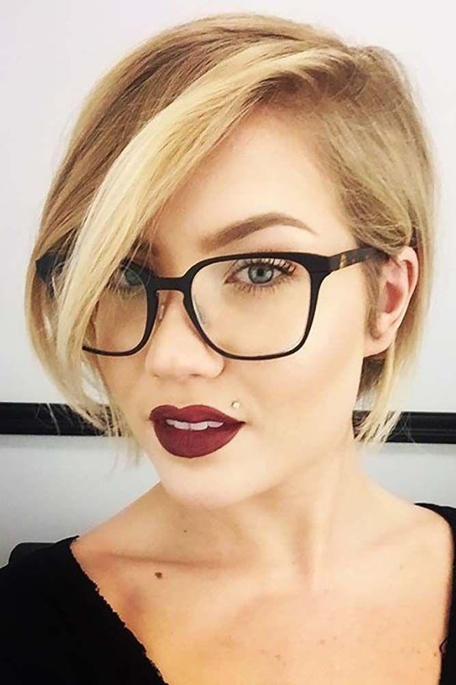 So wählen Sie eine Brille für kurzes Haar und rundes Gesicht