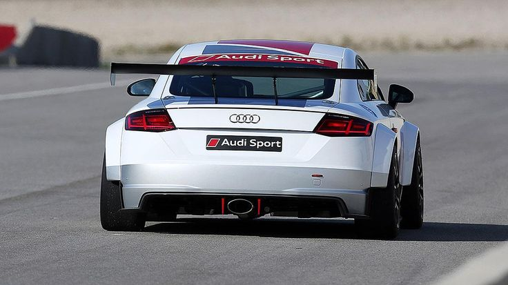 Audi presents a new Audi TT race car, designed to train entry-level circuit on the mark on the rings.  readmore: http://www.autocarpost.com/2014/10/18/official-audi-tt-race-car-will-compete-in-new-single-make-series/