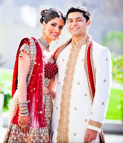 Indian Wedding Dress For The Bride And Groom From Unique Reception Theme Wedding Ideas