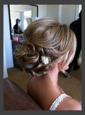 Hairstyles, Beautiful Short Hair Updos For Wedding: Simple Style of Wedding Updos For Medium Length Hair by estrellitaazulJ
