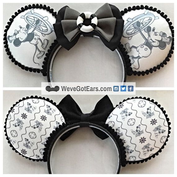 Steamboat Willie Handmade Mouse Ears Mickey Ears by WeveGotEars