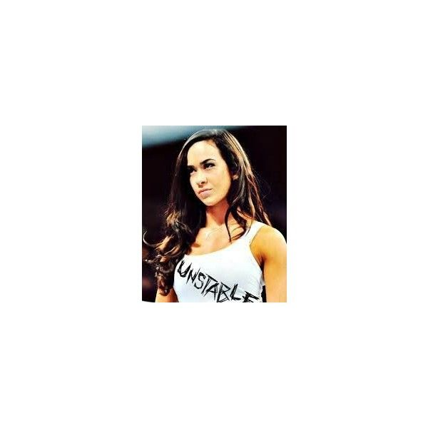 AJ Lee Dean Ambrose t-shirt by LaceMyChuckTaylors ❤ liked on Polyvore featuring tops and t-shirts