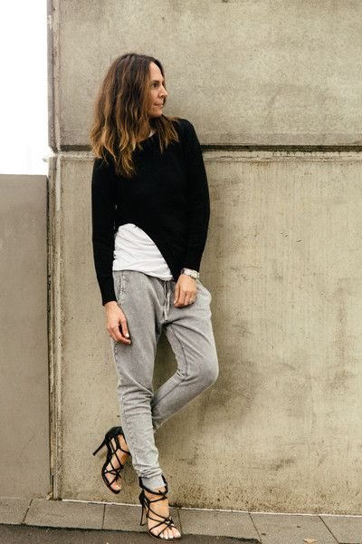 Get Inspo from Tash Sefton for our Chambray Jogger. Team ours with a basic white top and add a slim fitting knit over the top for the cooler months ahead. Ensure you wear heels for this look or else it could appear sloppy!