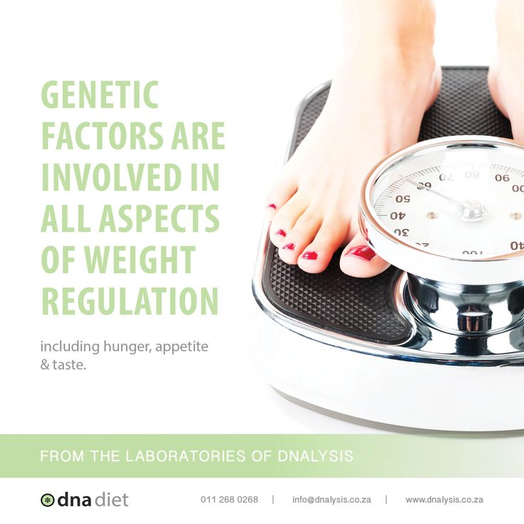 Genetic factors are involved in all aspects of weight regulation including hunger, appetite & taste. #‎dnalysis #dnadiet