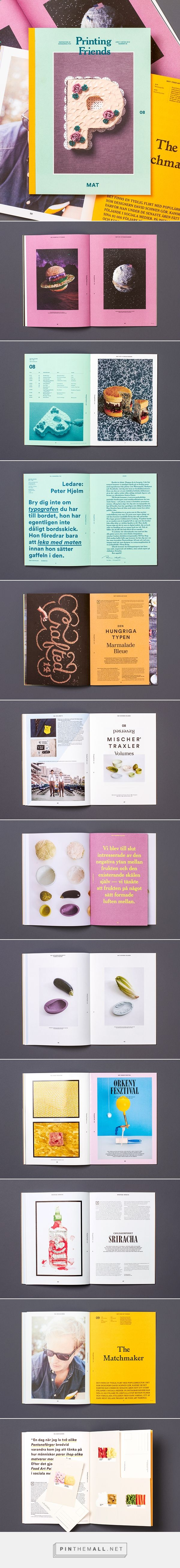 Printing Friends Magazine No 8 – Food on Behance - created via http://pinthemall.net
