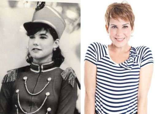 Andréa Veiga.A moça foi a primeira assistente de palco de Xuxa e por isso foi chamada de Paquita Núm... - Foto: Reprodução