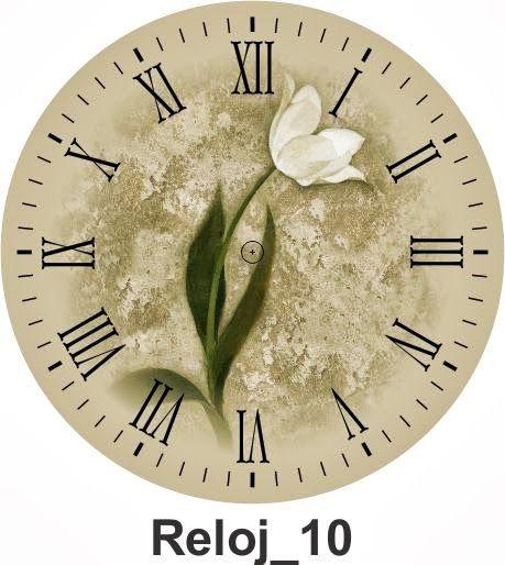 Top 25 ideas about relojes para imprimir on pinterest - Reloj pared vintage ...