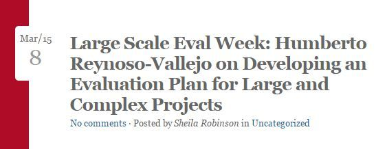Developing An Evaluation Plan For Large Complex Projects