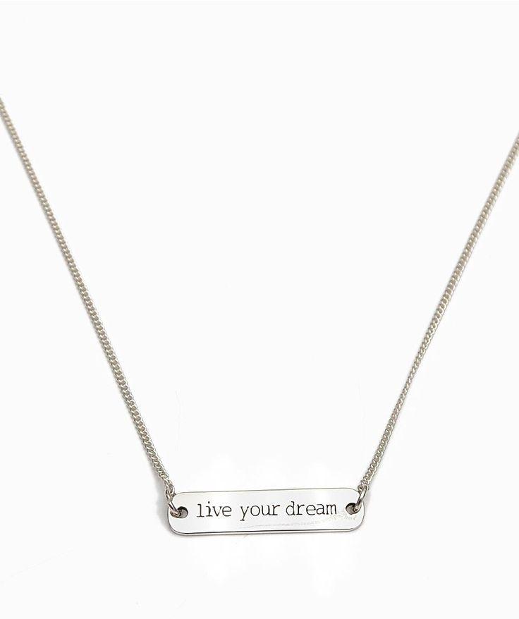 "Collar Amy ""Live Your Dream"" Plateado"