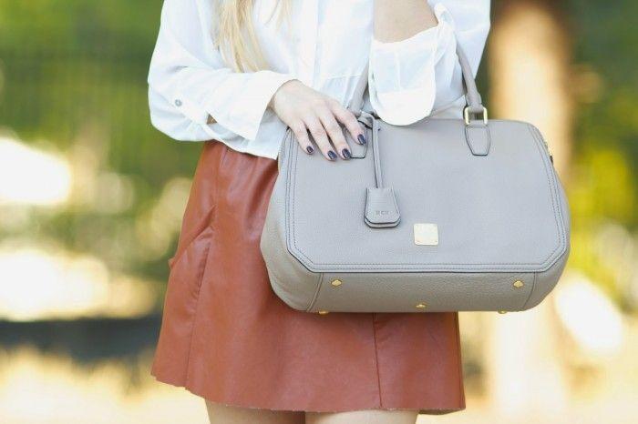 MCM grey bag