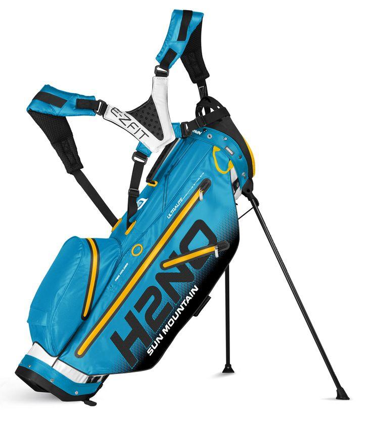 Sun Mountain H2NO Ultra Lite Stand Bag Blue yellow