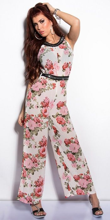 Buy Floral Glamour jumpsuit Whitefor R539.00