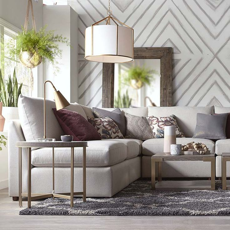 fabric seating beckham l shaped sectional 2676 lsect on 62 Holistic Approach To Living Room Furniture id=15991