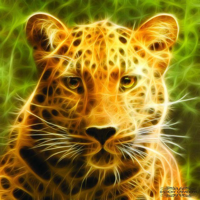 tiger fractal cats e - photo #11