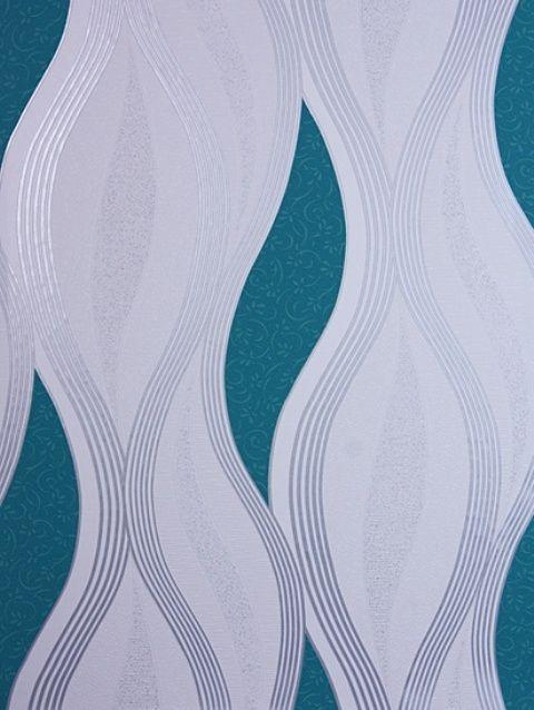 retro vinyl behang met glinster glitter x54