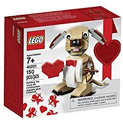 LEGO Bricks & More Valentines Cupid Dog 40201 Building Kit - great Valentine's Day gift idea for him