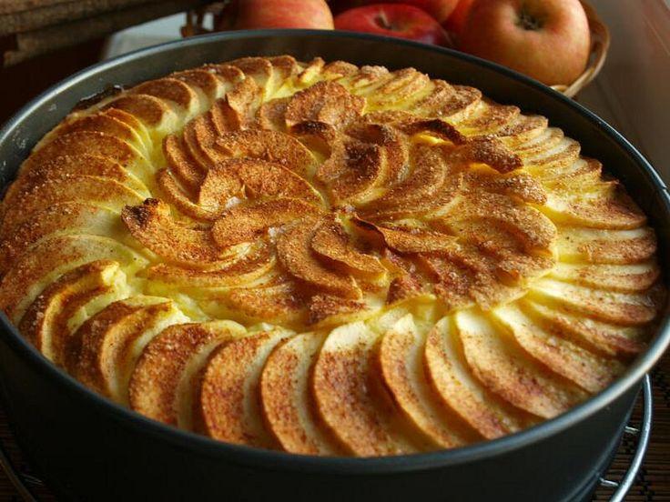 Vynikající jablečný koláč s tvarohem