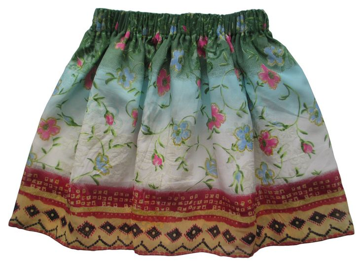 Spódnica letnia kwiaty dla dziewczynki  122 128  - Anetmoda - Spódniczki dla dziewczynek