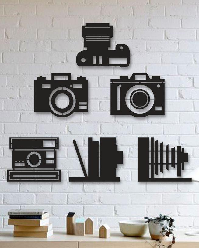 Fotoğraf Makinesi Metal Tablo