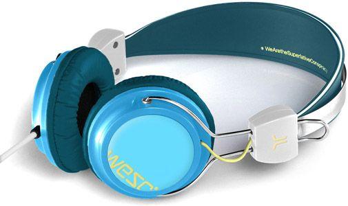 WeSC Bongo Kopfhörer blau grün