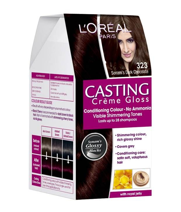 L'Oreal Casting Creme Gloss Hair Color 323 Dark Chocolate, http://www.snapdeal.com/product/loreal-casting-creme-gloss-hair/1241434086