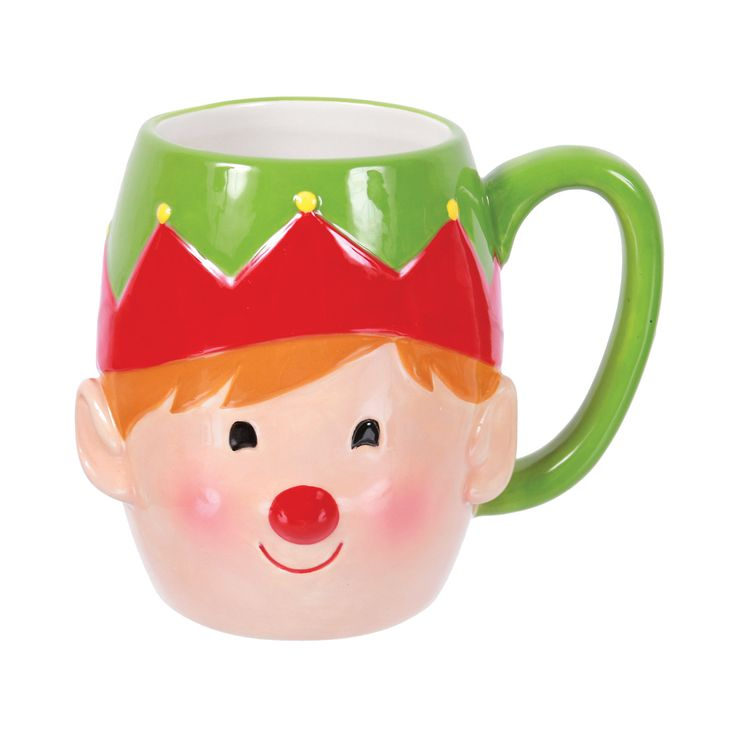 Elf Face Embossed Mug