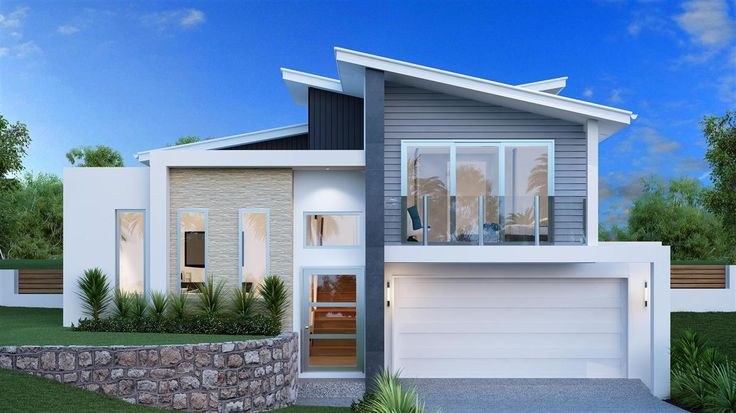 contemporary nz house plans split level - Google Search