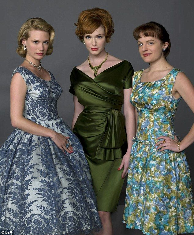 BIANCA, here Christina Hendricks is wearing it; look how beautiful the color looks against her fair skin :)  ...Driving men Mad: January Jones (as Betty Francis), Christina Hendricks (as Joan Harris) and Elizabeth Moss (as Peggy Olson) are the female stars of the show