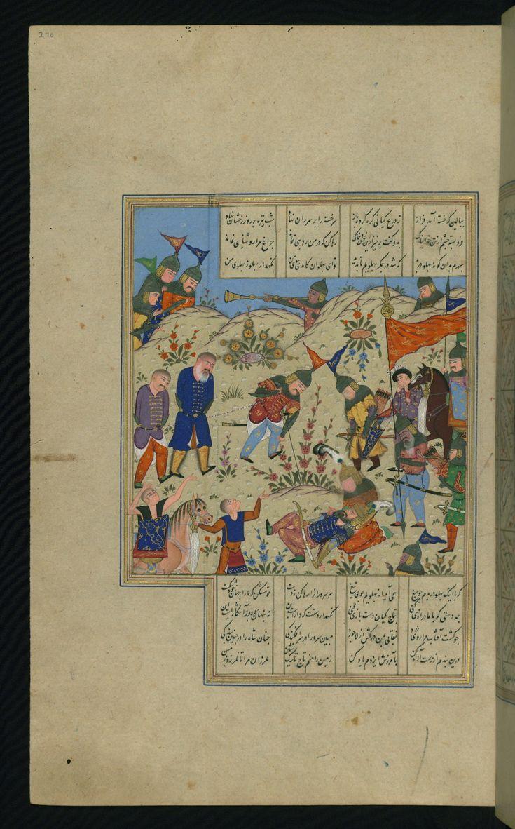 Alexander the Great mourns the death of Darius - Iskandarnāmah