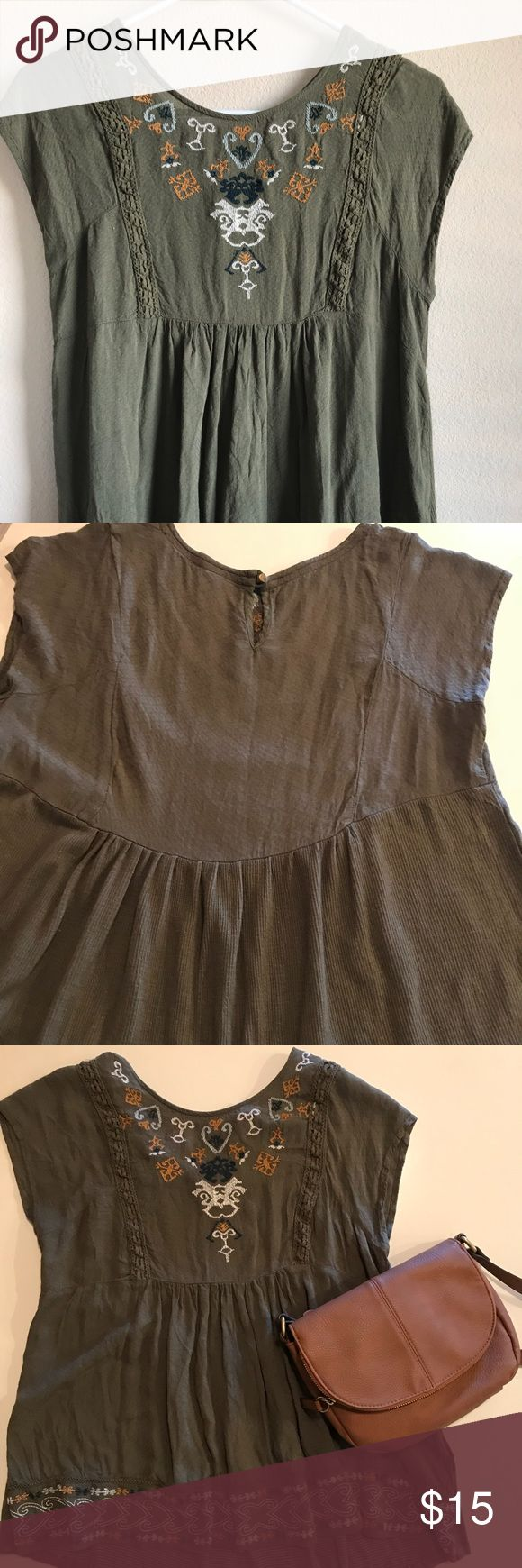 Embroidered Foley Top Light and flowy top from Knox Rose by Target Baby doll style with great details Target Tops Blouses