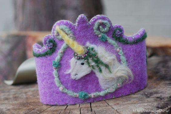 Детские короны для праздников. Идеи и шаблоны из интернета. корона фетр валяння