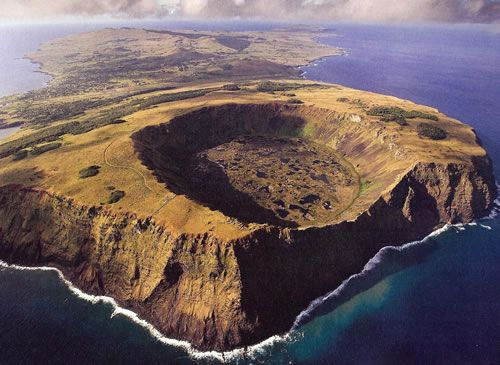 easter island rano kau crater - Google Search