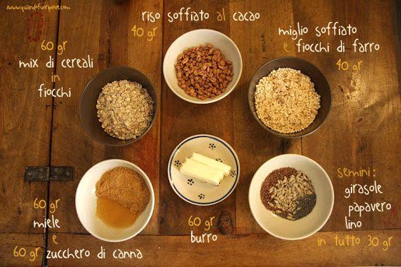 Barrette di cereali