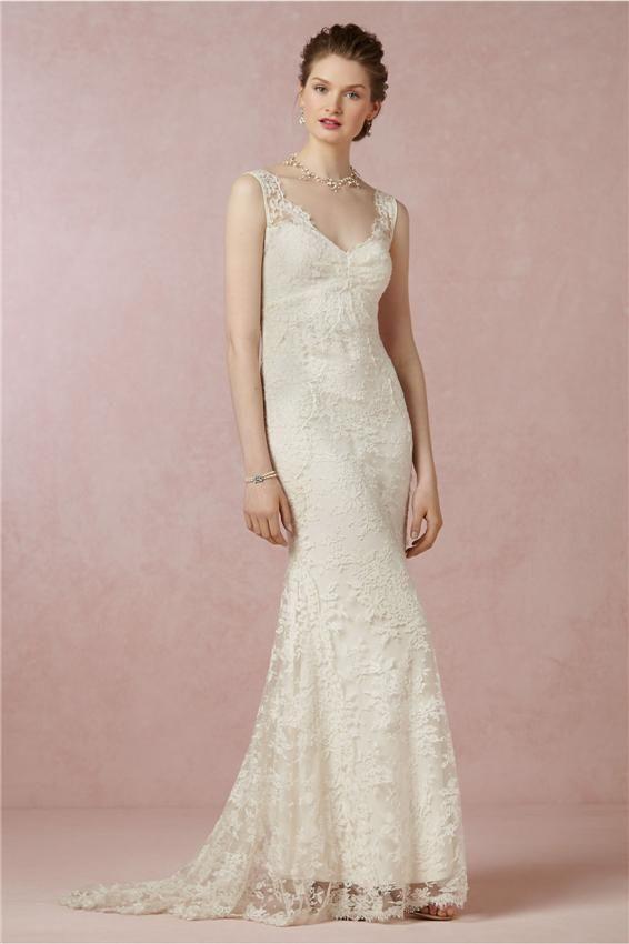 Whole Sheath Wedding Dresses Y Elegant Over Lace Plunge V