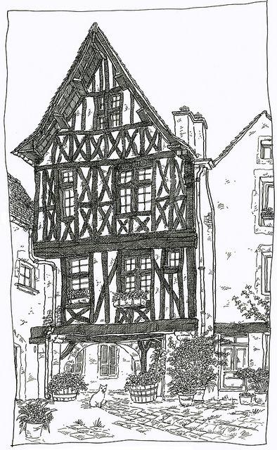 France, Burgundy, Noyers-sur-Serein | Flickr - Photo Sharing!
