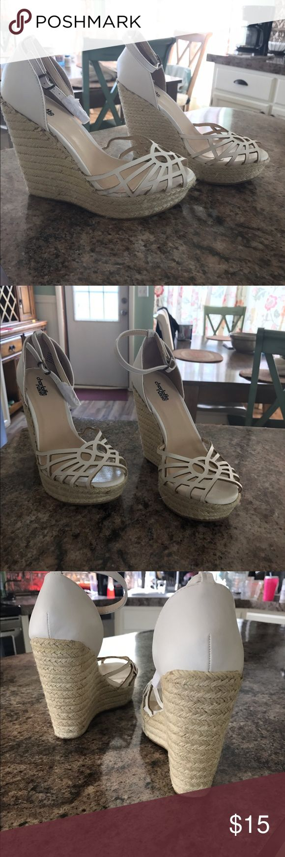 White wedge heels Never worn size 8 wedges Charlotte Russe Shoes Wedges
