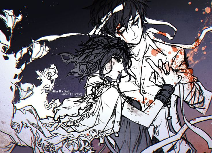 Painkiller B x Pain from the game Herowarz. wondering why many people ship them but their back story only available in korean language..orz