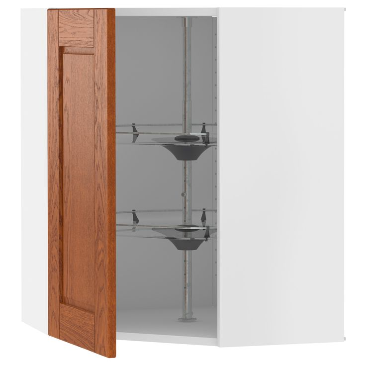 Akurum corner wall cabinet with carousel white lixtorp for Akurum kitchen cabinets