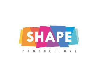 Shape Productions Logo design - Simple, modern and colorful logo featuring abstract geometric shapes. This lovely logo is suitable for event websites, music production companies, studios, art-related business, entertainment and media websites, streaming services, cosmetic products, retail sector, technology and other.  Price $177.00