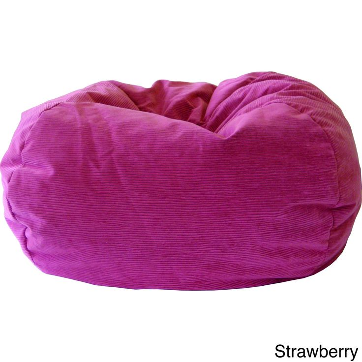 Gold Medal XXL Micro Fiber Suede Corduroy Bean Bag Strawberry Pink
