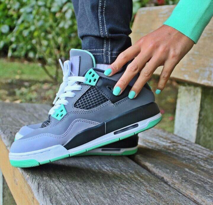 Jordans green gloww i hav these and there like so cutee