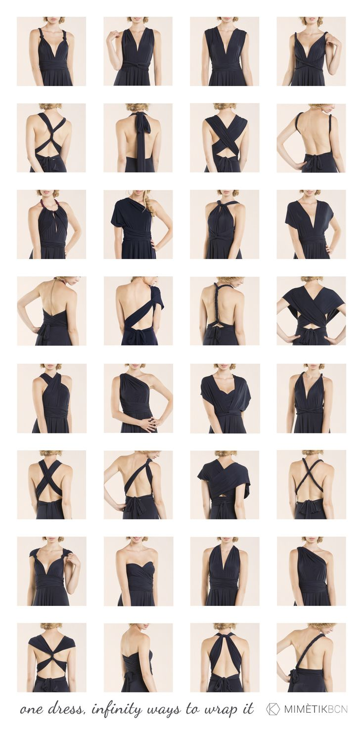 Do you need to know how to wrap your infinity dress? here see more than 20 styles! Backless, one shoulder, strapless, asymetrical, sleeves, V neckline, ¿Quieres saber cómo ajustar su vestido convertib (Tango Dress)