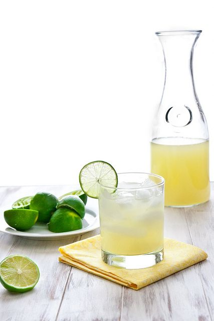 For the homemade margarita mix: 1/2 cup sugar* 1 cup water 1 cup fresh squeezed lime juice (~8-12 limes) For the margaritas: 1 recipe h...