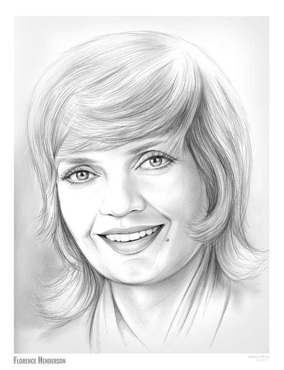 Florence Henderson  Pencil Sketch of the Day  Friday June 16 2017 FlorenceHenderson CarolBrady BradyBunch DWTS  February 14 1934  November 24 2016 was an American actress and singer with a career spanning six decades She is best remembered for her starring role as matriarch Carol Brady on the ABC sitcom The Brady Bunch from 1969 to 1974 Henderson also appeared in film as well as on stage and hosted several longrunning cooking and variety shows over the years She appeared as a guest on many…