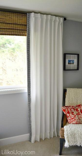 ikea curtains makeover  bamboo roman shades  curtains